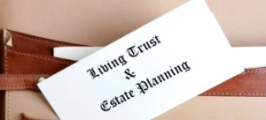 Estate planning documents in a leather broefcase